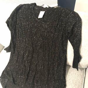 Black sparkle maternity sweater